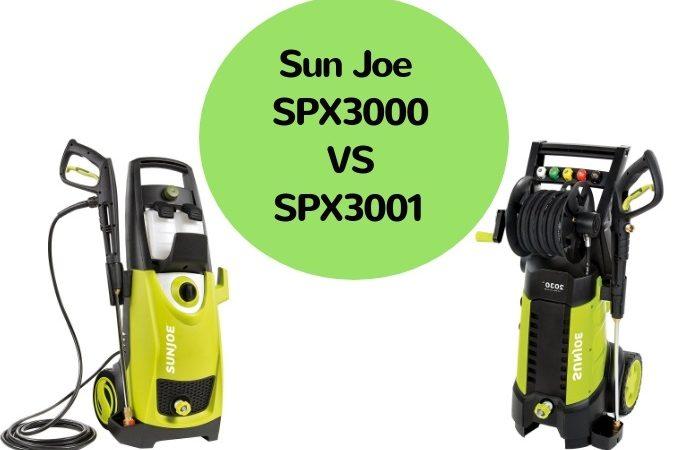 Sun Joe SPX3000 VS SPX3001