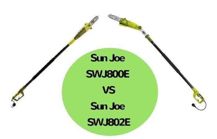 Sun Joe SWJ800E VS SWJ802E