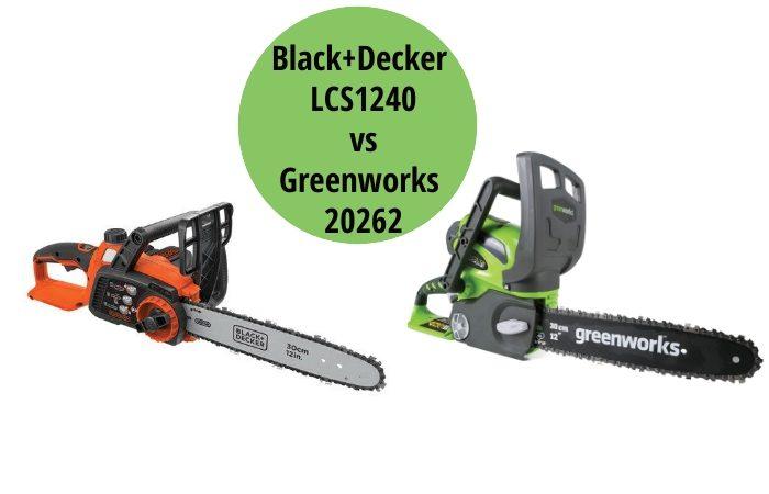 Black+Decker LCS1240 vs Greenworks 20262