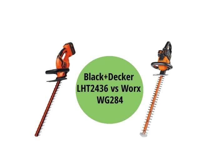 Black+Decker LHT2436 vs Worx WG284