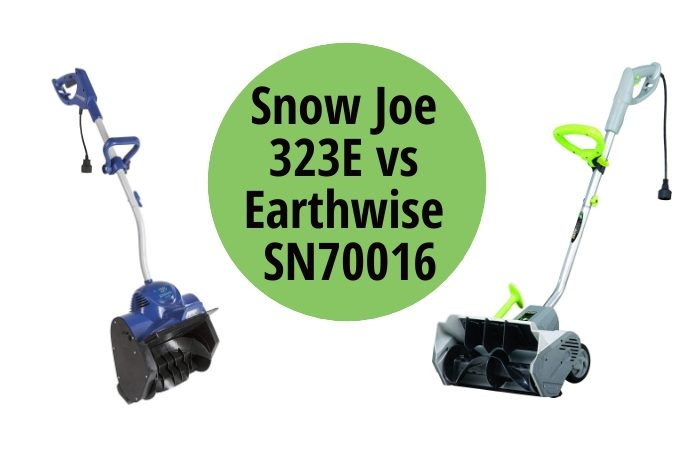 Snow Joe 323E vs Earthwise SN70016