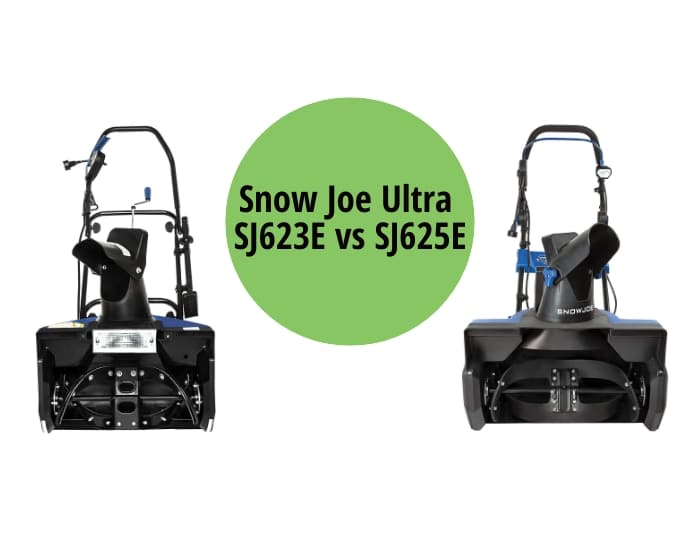 Snow Joe Ultra SJ623E vs SJ625E
