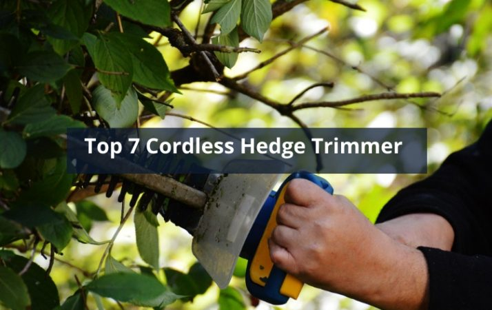 Top 7 Cordless Hedge Trimmer
