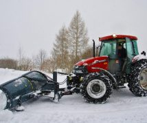 best snow pusher for compact tractor